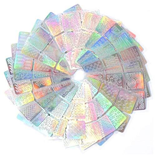 Nail Art Schablonen, 24 Blatt Nail Art Vinyl Schablone Guide Aufkleber Maniküre gebogene Welle, Hohlgitter wiederverwendbare Maniküre Decals Vorlage Nagelkunstwerkzeuge, Art Design Maniküre Aufkleber