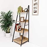 C-Hopetree Ladder Shelf - Bookcase - A-Frame Plant Display Stand Storage - Metal Frame