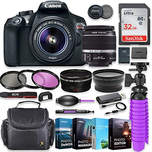 Find Discount Canon EOS Rebel T6 18MP DSLR Camera with Canon 18-55mm is Lens Bundle + 32GB SD Memory...