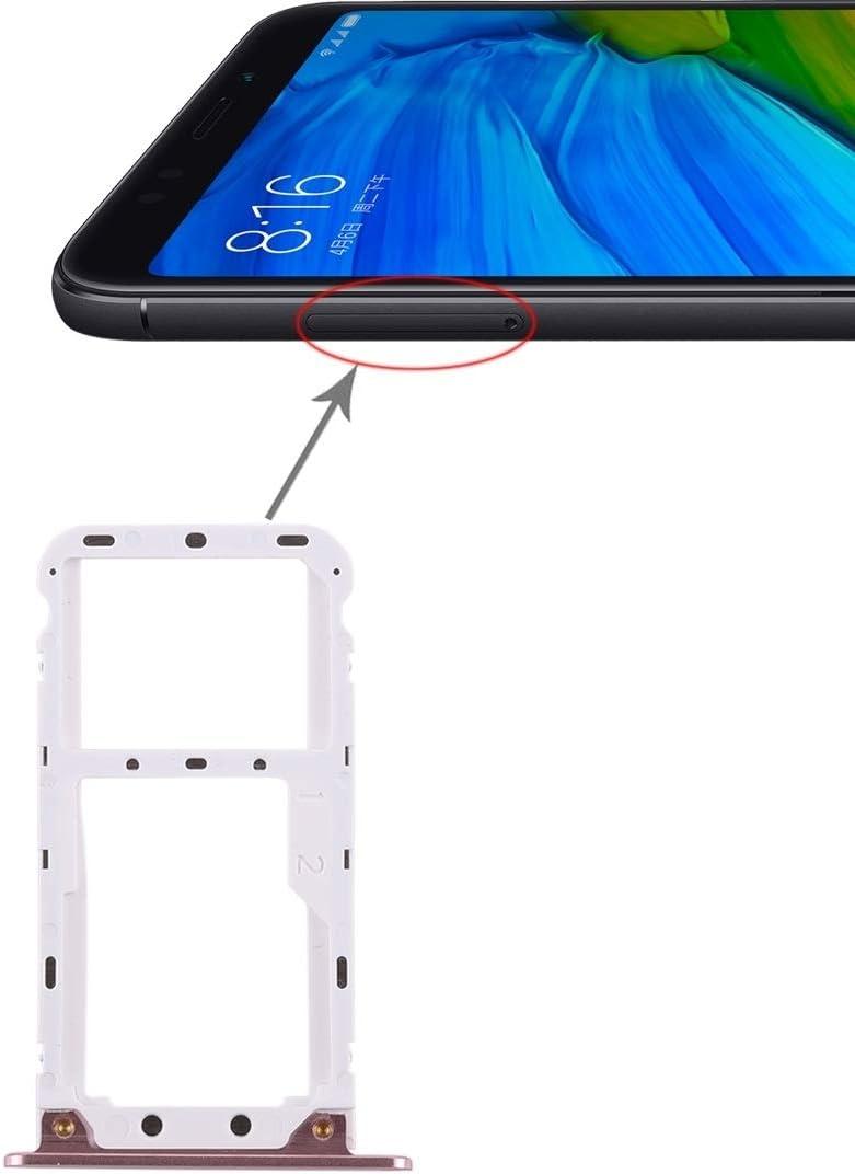 JIANGSHOUJIESPA 2 Bandeja de la Tarjeta SIM/Bandeja de la Tarjeta Micro SD for Xiaomi Redmi 5 Plus (Color : Rose Gold)