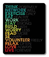 Smooffly Gaming Mouse Pad Custom,Inspirational Quotes Mouse pad 9.5 X 7.9 Inch (240mmX200mmX3mm) [並行輸入品]