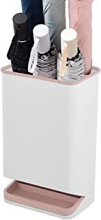 Yxsd Umbrella Stand with Drip Tray,6 Holes Umbrella Holder Stands Plastic Removable (Color : Pink)