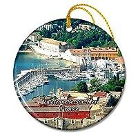 ヴィルフランシュシュルメールフランスオールドハーバークリスマスオーナメントセラミックシート旅行お土産ギフト