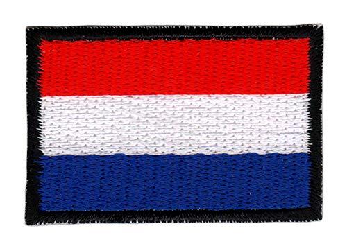 Patch Niederlande Flagge Klein Netherlands Holland Aufnäher Bügelbild Größe 4,5 x 3,0 cm
