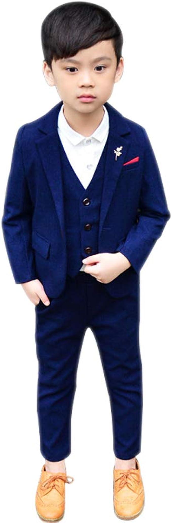 BOZEVON Kinder Jungen Anzug   Einfarbig Baumwolle Kinder ...