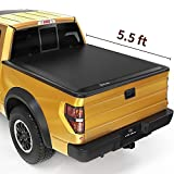 YITAMOTOR Soft Quad Fold Truck Bed Tonneau Cover Compatible with 2009-2014 Ford F-150 (Excl. Raptor Series), Styleside 5.5 ft Bed