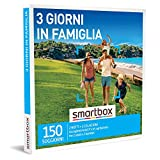 smartbox - Cofanetto Regalo 3 Giorni in Famiglia - Idea Regalo per la Famiglia - Due Notti con Colazione per 2 Adulti e 2 Bambini
