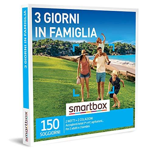 smartbox - Cofanetto Regalo - 3 Giorni in Famiglia - Idee Regalo - 2 Notti con Colazione per 2 Adulti e 2 Bambini