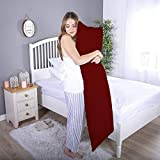 Daddy Cool Ultra Soft Body Support Body Pillow/ Pregnancy Pillow for Pregnant Women/ Maternity Pillow Side Sleeping Pillow 20 x 54 Inch Pack of 1 (Maroon )