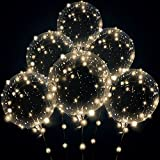 Led balloons , Wedding Decorations 10 set warm white 15pcs Transparent Light Balloons Great For Banquets, Outdoor and Indoor Parties, Anniversary, House Party, Family Reunion, Birthday and Event Centerpieces (warn white) (20 inch--10 set)