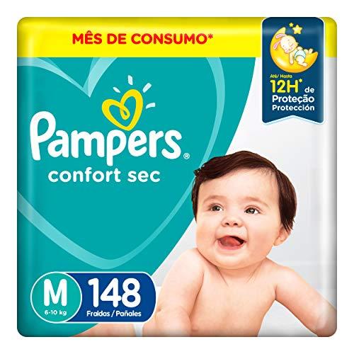 Fralda Pampers Confort Sec M 148 Unidades, Pampers