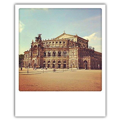 Pickmotion PolaCards Dresden: Hochwertige Polaroid Postkarten im Retro Stil - Motiv: Retro-Musentempel - Semper Oper