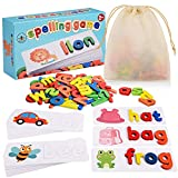 Beestech Spelling Matching Letter Games, Educational Learning Toys for Toddlers 2, 3, 4 Years Old, Preschool Learning Toys Activities, Alphabet Montessori Toys for 2,3,4 Year Old Boys, Girls