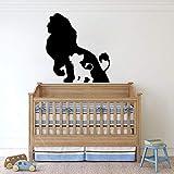 HFDHFH Lion King Boy Baby Boy Baby Room Etiqueta de la Pared de Dibujos Animados Etiqueta de la Pared Decoración de la habitación Etiqueta de la habitación de los niños Family Girl Mural Room