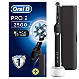 Oral-B Pro 2 2500 CrossAction Electric Toothbrush Rechargeable Powered by Braun, 1 Handle, 2 Modes Including Gum Care, 1 Toothbrush Head, Travel Case, 2-Pin UK Plug, Christmas Gift for Men/Women