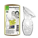 haakaa Milchpumpe Manuell Silikon - Gen 1 100 ml - Handmilchpumpe Leise & Leicht zu reinigen