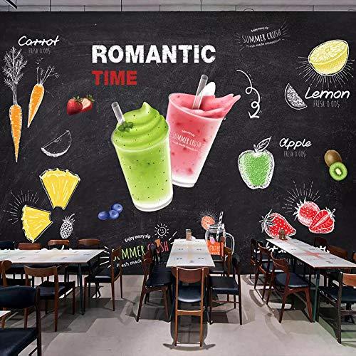 WLPBH muursticker, 3D, handbeschilderd, tafel, fruit, café, wand, dranken, keuken, winkels, bakkerij, behang, restaurant café, kantoor, fitnessstudio, hal, kleuterschool, P 350x256 cm (WxH) 7 rayas - autoadhesivas