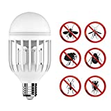 GEEKERS Bug Zapper Light Bulb with LED Light Bulb,Fly Killer, Mosquito Killer, Built in Insect Light Trap, Fits in 110v Light Bulb Socket, Perfect for Indoor Home Garden Patio Backyard