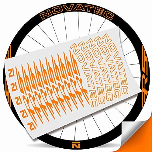 Kit Pegatinas Bicicleta Stickers LLANTA NOVATEC R5 29' MTB BTT B (Naranja Fluor)