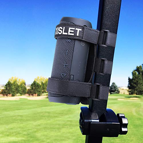 Xislet 2-Strap Style Portable Golf Cart Speaker Mount Compatible with Bicycle Club car EZGO Cart Fits Attaches...