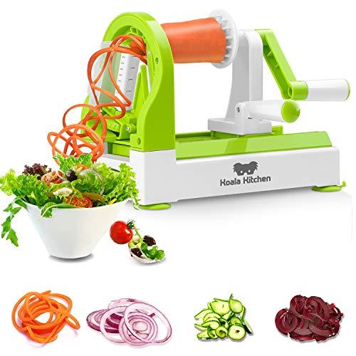 """Koala Kitchen\""""SPIROALA\"""" Spiralschneider - Zoodle Maker mit integrierten Klingen und Saugfüßen - Für perfekte Zoodels oder Gemüsenudeln"""