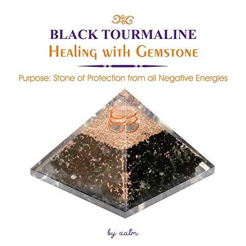Aatm Energy Generator Black Tourmaline Orgone Pyramid for EMF Protecti