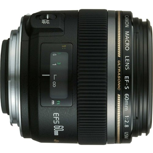 Canon EF-S 60mm f/2.8 Macro USM Fixed Lens for...
