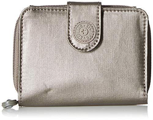 Kipling New Money GM Wallet, Metallic Pewter, One Siz