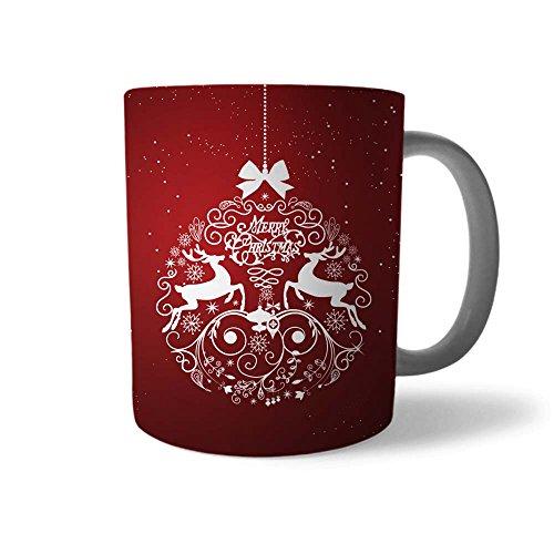 Babloo Tazza di Natale Idea Regalo Natalizia Ghirlanda Rossa