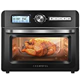 CROWNFUL 19 Quart/18L Air Fryer Toaster Oven, Convection Roaster with Rotisserie & Dehydrator, 10-in-1 Countertop Oven, Original Recipe and 8 Accessories Included, UL Listed (Black)