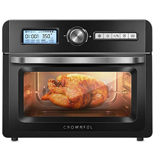 CROWNFUL 19 Quart Air Fryer Toaster Oven, Convection Roaster with...
