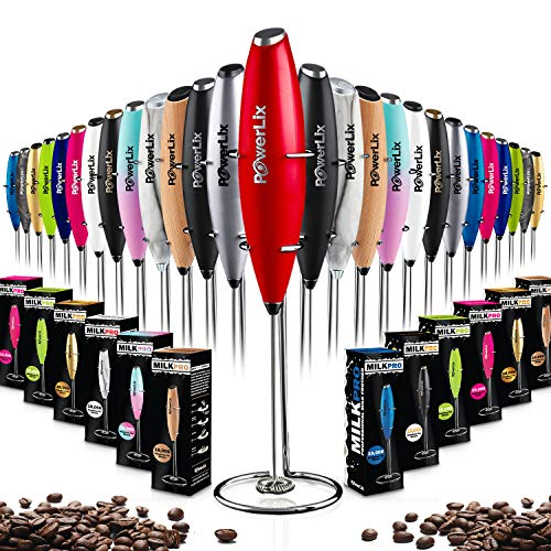 PowerLix Milk Frother Handheld Battery Operated Electric...