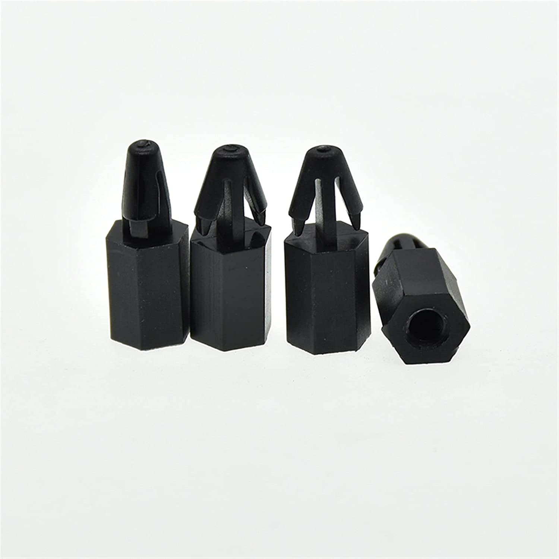 XIAOZSM Tornillo Tornillo de espaciado de Nylon Negro/Blanco para el Grosor de la Placa de PCB de 1.0-1.8mm Pilar Espaciador de Nylon fijado con Pilar con Hilo Hembra M3