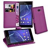 Cadorabo Coque pour Sony Xperia M2 en ORCHIDÉE Violets – Housse Protection avec Fermoire...