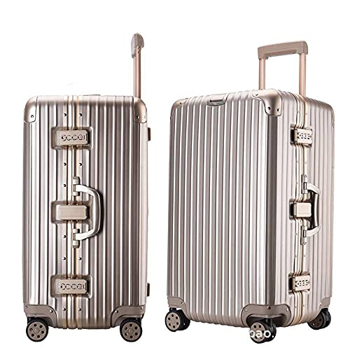 N\C Suitcase 4-wheel Aluminum Frame Trolley Case Lightweight Carry-on Suitcase TSA Customs Code Lock Consignment Tool Box