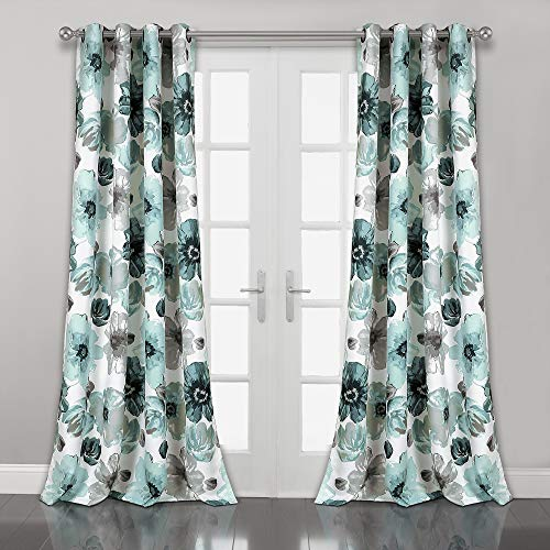"Lush Decor Lush Décor Leah Room Darkening Window Curtain Panel Pair, 52"" x 84"", Blue"