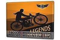 カレンダー Perpetual Calendar Garage Legends Tin Metal Magnetic