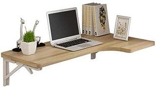 ERRU Table Murale Rabattable- Table Murale À Abattant Pliante, Table D'étude d'angle en Forme De L, Bureau en Bois pour La...