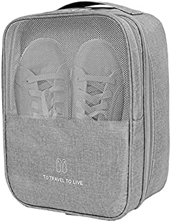 Yeahmart Travel Shoe Bag Waterproof Portable Organizer Storage Shoe Pouch Holds 3 Pair of Shoes