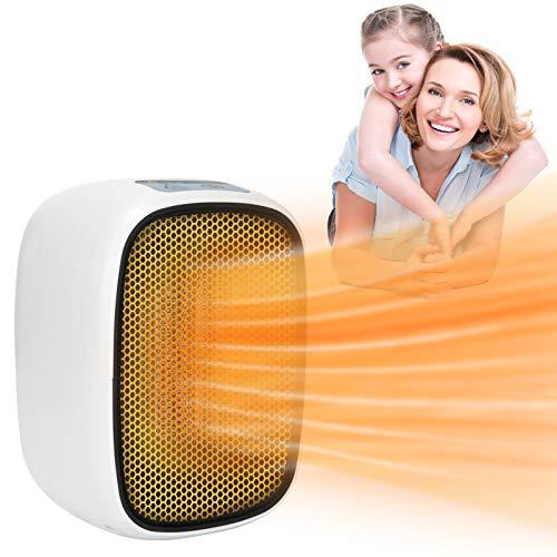 resistente al agua protecci/ón contra sobrecargas Luz nocturna 7 colores Calefactor ba/ño bajo consumo con control remoto 800W electrico calefactor de aire caliente con Temporizador // Silencio