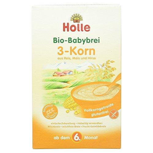 Holle Bio Babybrei 3-Korn aus Reis, Mais und Hirse, 250 g