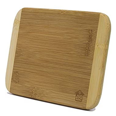 Small Two-Tone Bamboo Cutting Board (6  x 8 ) - Cutting Mincing Crushing Mini Chopping Board