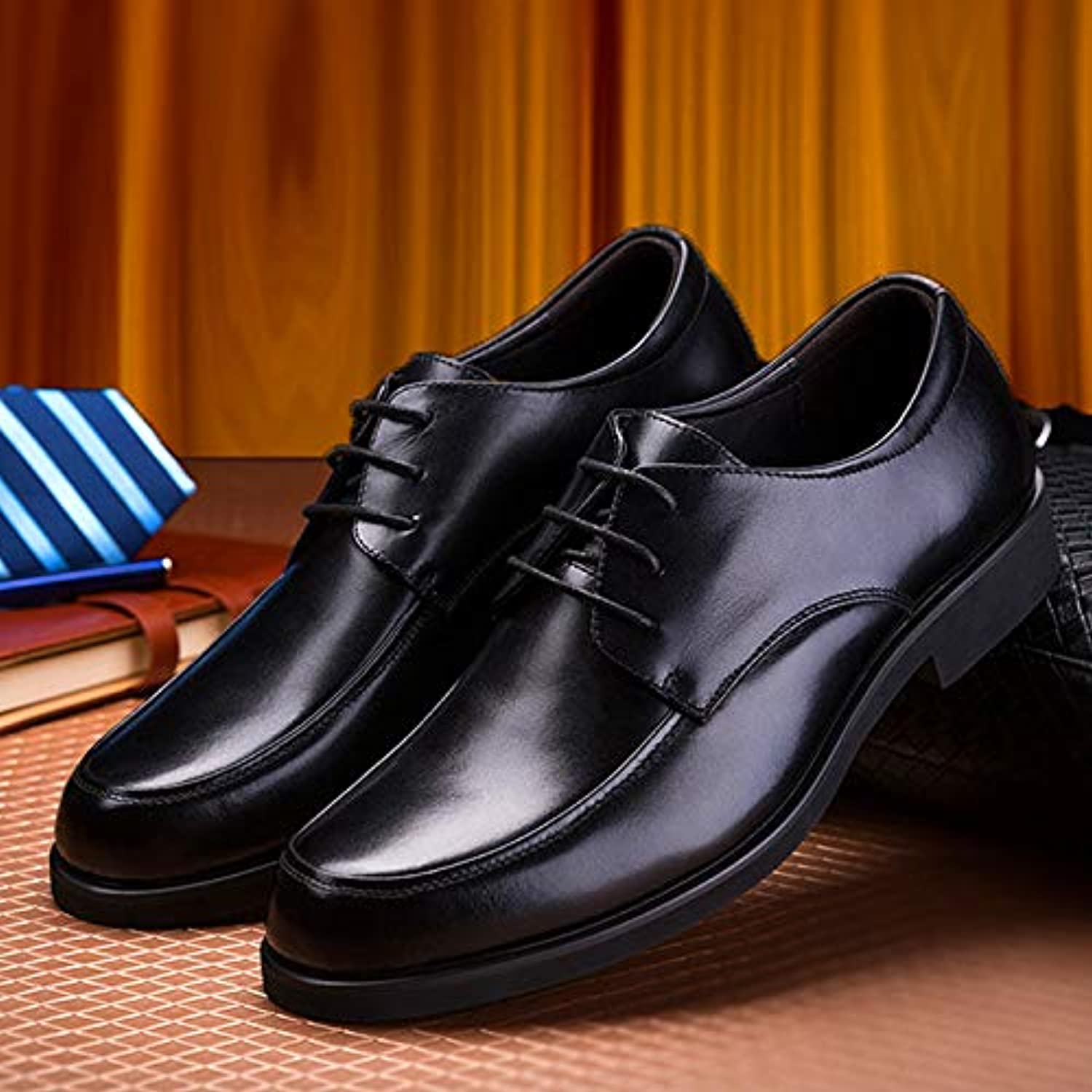 LOVDRAM Men'S Leather shoes Autumn Men'S Business Leather shoes With Casual Dress shoes shoes Work shoes Men