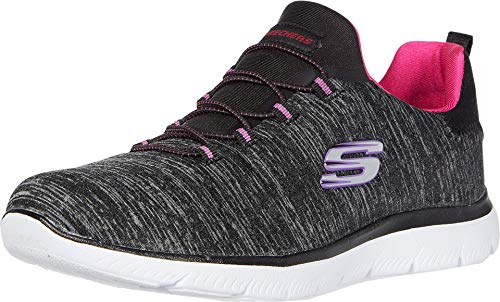 Skechers Summit - Quick Getaway Black/Pink 9.5 B (M)