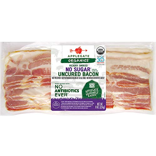 Applegate, Organic No Sugar Uncured Bacon, 8oz