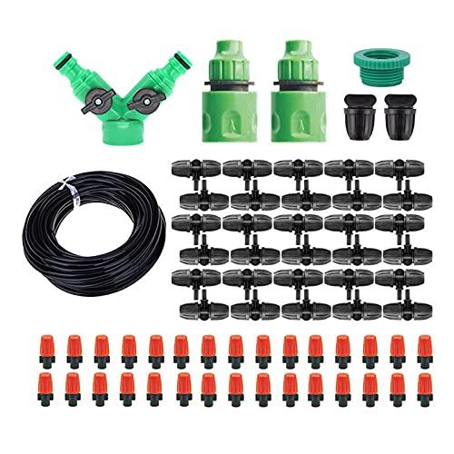 OhhGo Kit de riego de plantas de bricolaje Sistema de riego automático de nebulización con boquilla ajustable para jardín de césped granja