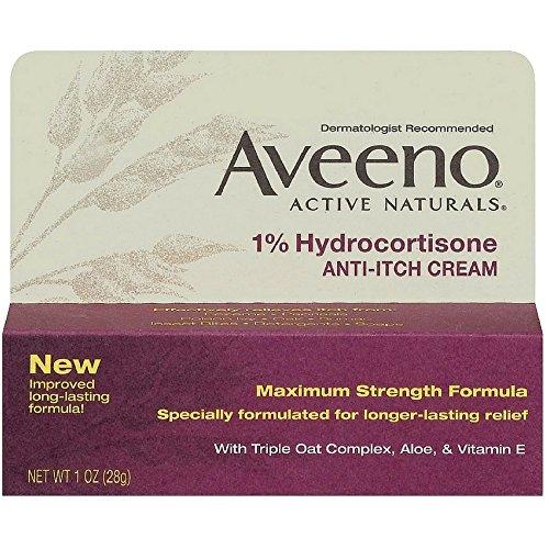 Aveeno 1% Hydrocortisone Anti-Itch Cream, 1 Oz ( Pack of 3 )