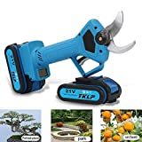 YKLP 21V Professional Cordless Lithium Pruning Shears Portable Electric Tree Branch Pruner 30mm(1.2 inch) Cutting Diameter