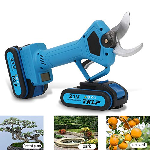 Best Review Of YKLP 21V Professional Cordless Lithium Pruning Shears Portable Electric Tree Branch P...