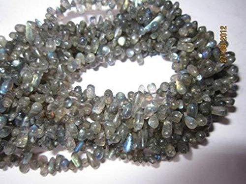 LKbeads 33 cm lang Labradarit ca. 5 x 7 mm bis 6 x 8 mm Seitenbohrer Tropfen Edelstein Perlen Code-HIGH-40291